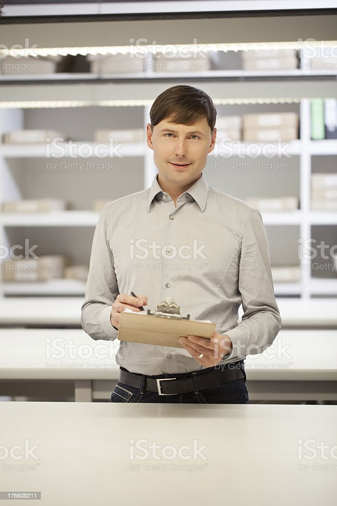 Successful small business owner royalty-free stock photo