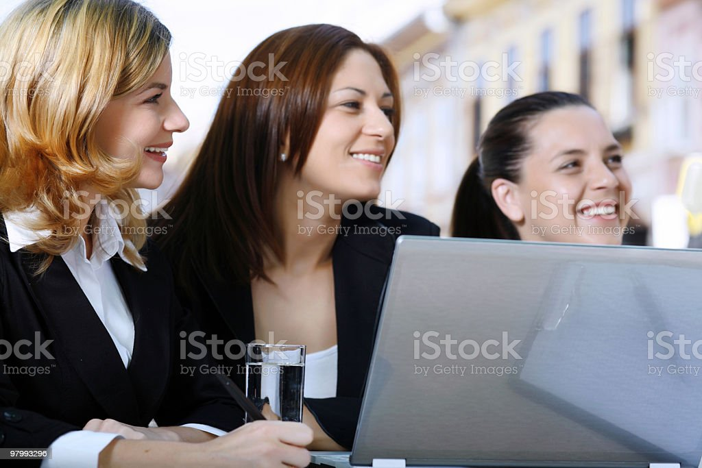 Successful smiling business women. royalty free stockfoto