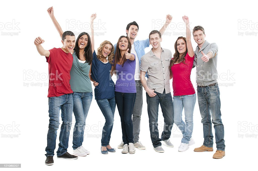 Successful smiling people stock photo