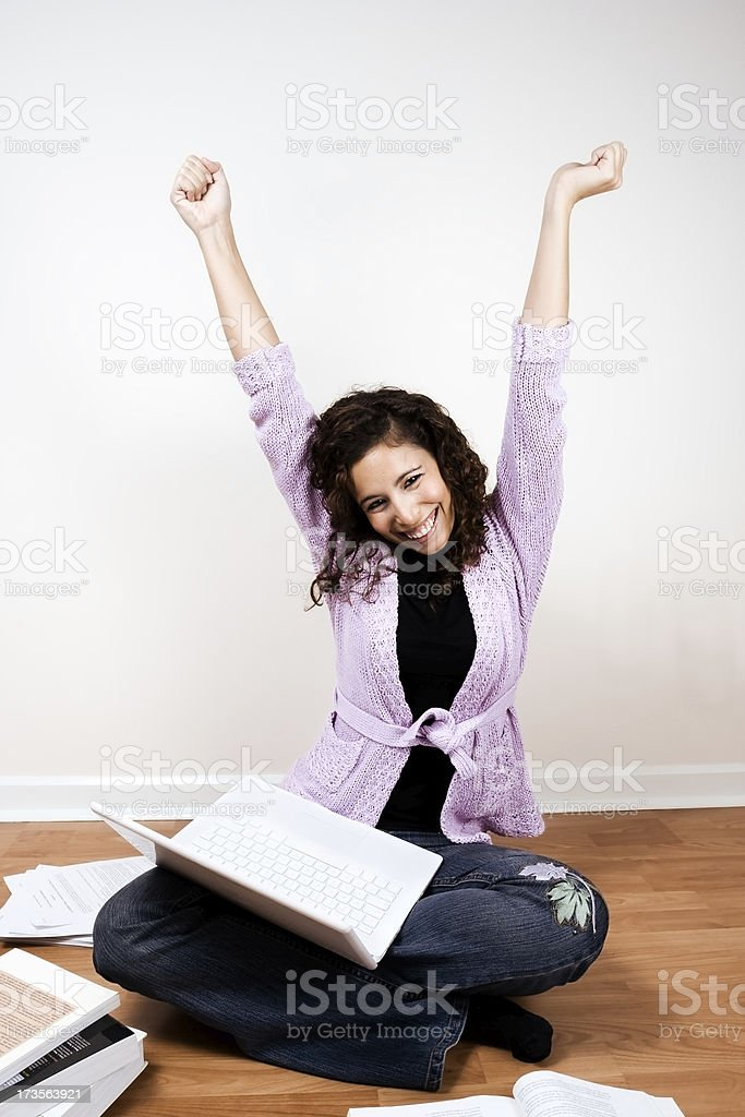 Successful student with Laptop royalty-free stock photo