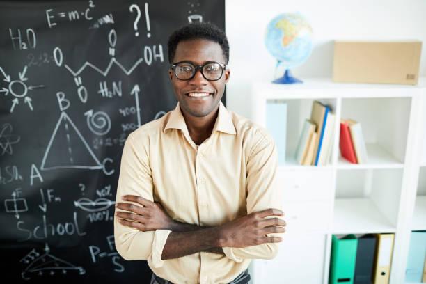 Successful teacher stock photo