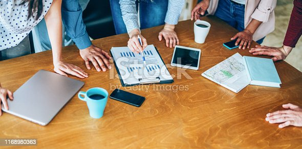 istock Successful team of professionals in the office 1168980363