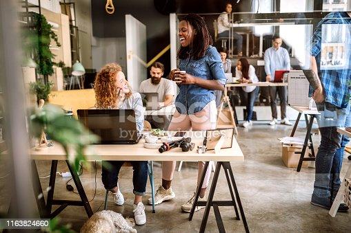 istock Successful Team Sharing Brainstorming Ideas 1163824660