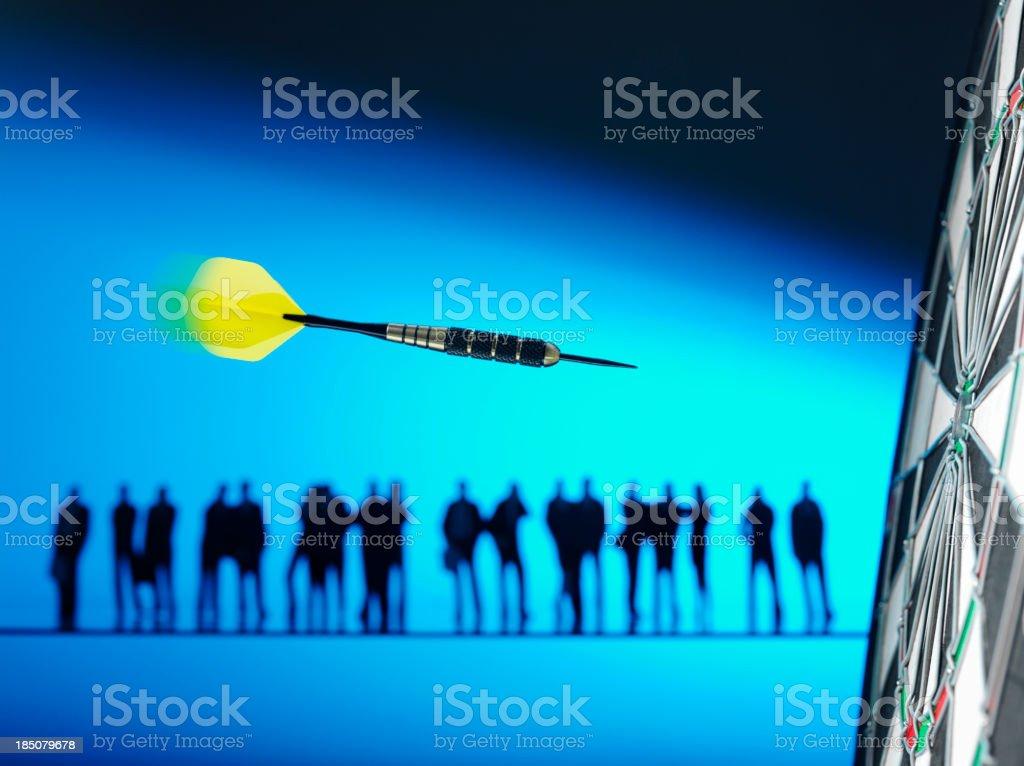 Successful Teamwork in Darts royalty-free stock photo