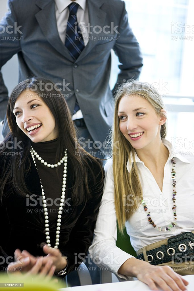 Successful teamwork royalty-free stock photo