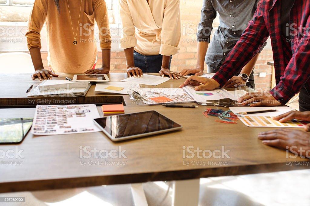 Erfolgreiche teamwork  - Lizenzfrei Afrikanischer Abstammung Stock-Foto