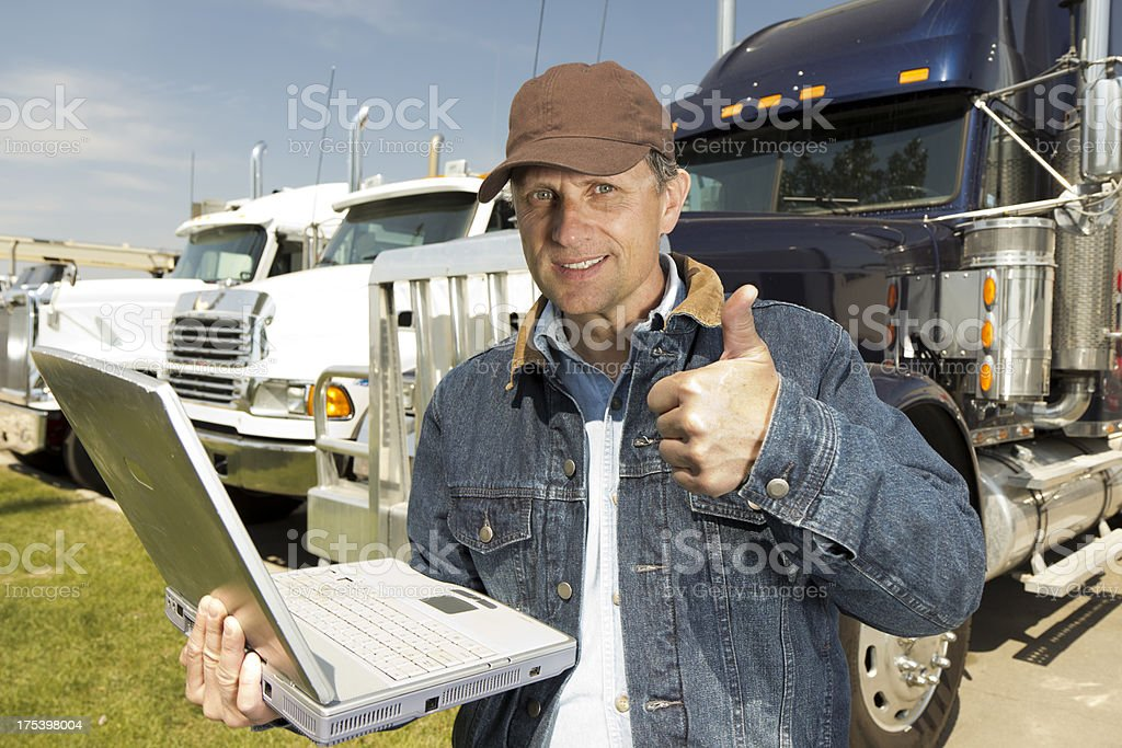 Successful Trucking royalty-free stock photo