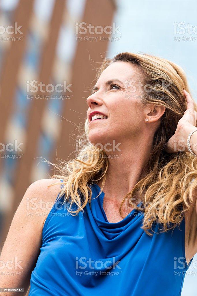 Successful Urban Mature Blond Woman stock photo