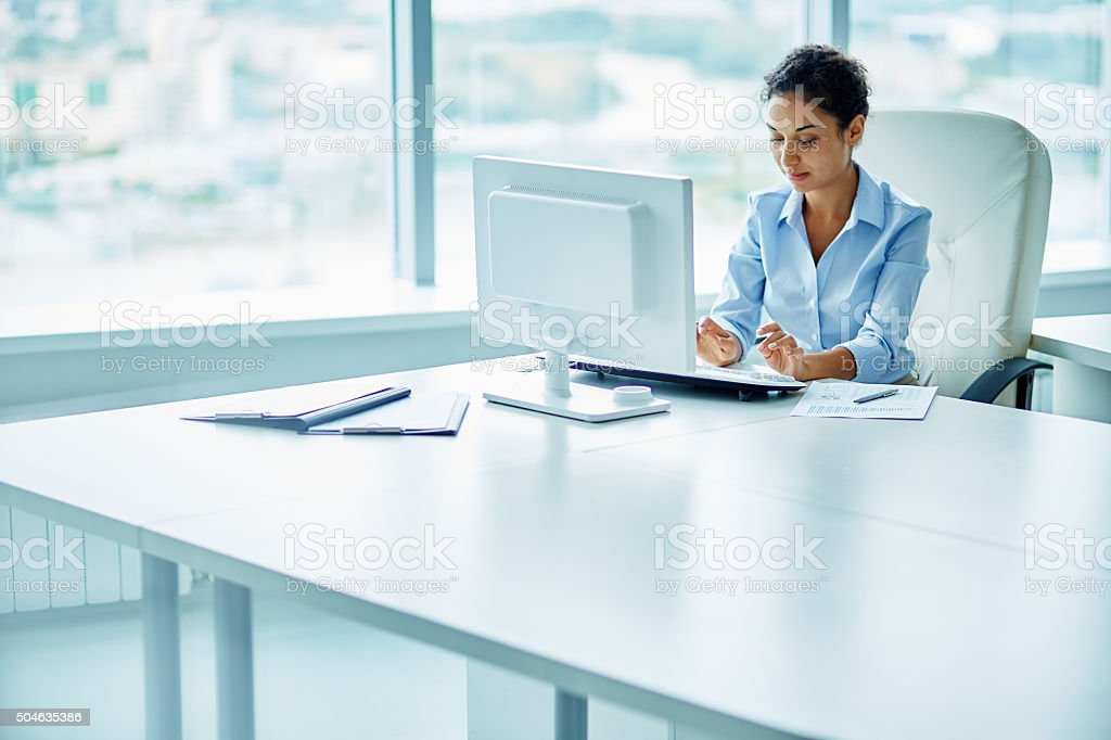 Successful woman in business stock photo