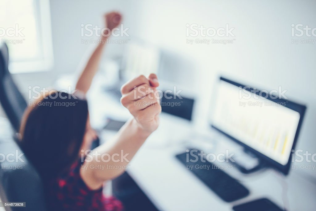 Successful woman stock photo