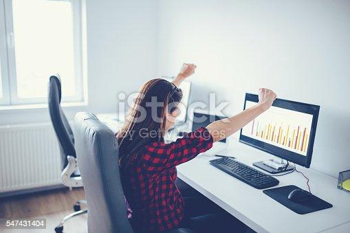 istock Successful woman 547431404