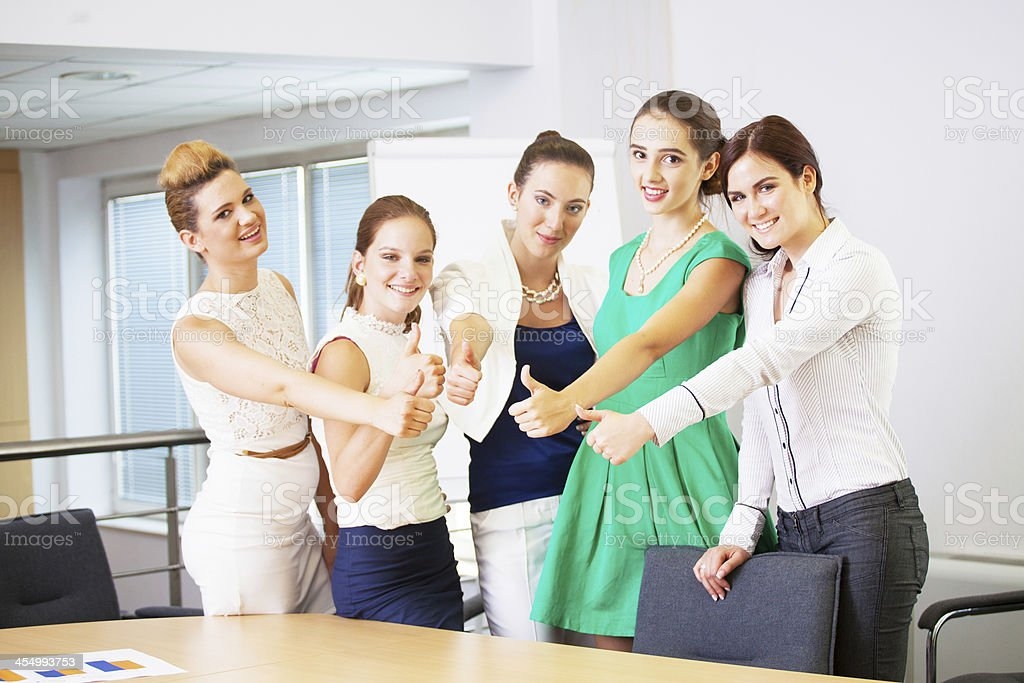 successful women - business team stock photo