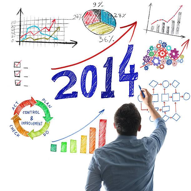 erfolgreiches jahr 2014 - bundeshaushalt 2014 stock-fotos und bilder