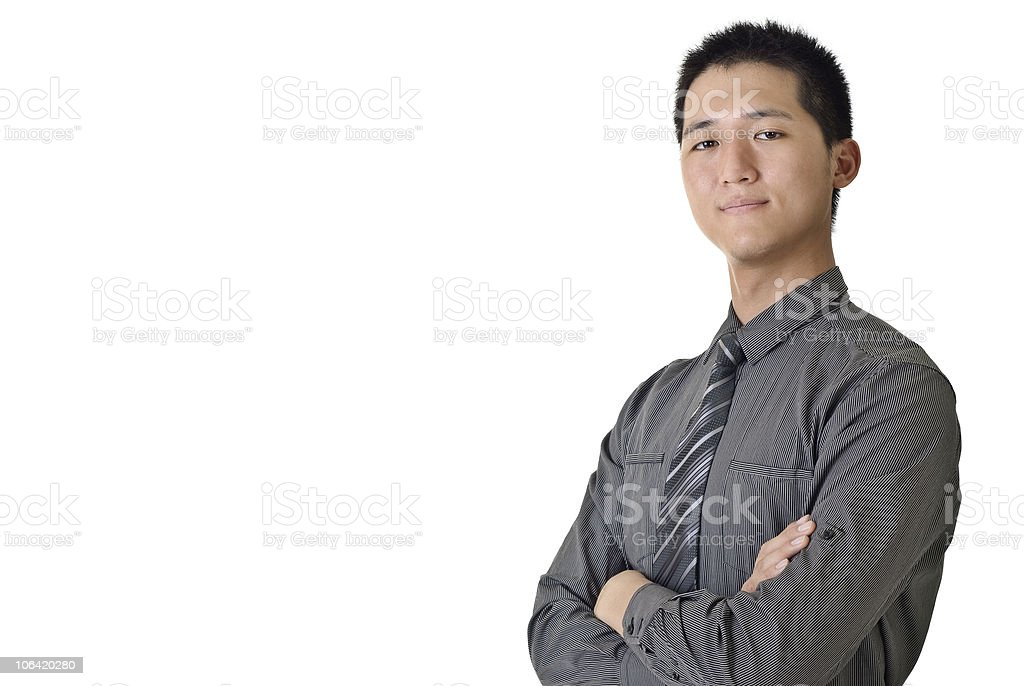 Successful young businessman royalty-free stock photo