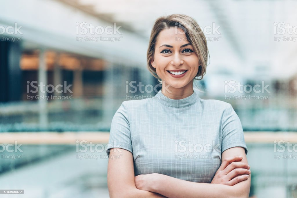 Successful young businesswoman stock photo