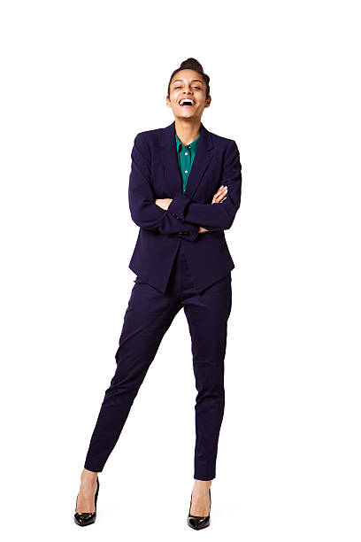 giovane donna di successo dirigente d'azienda - figura intera foto e immagini stock