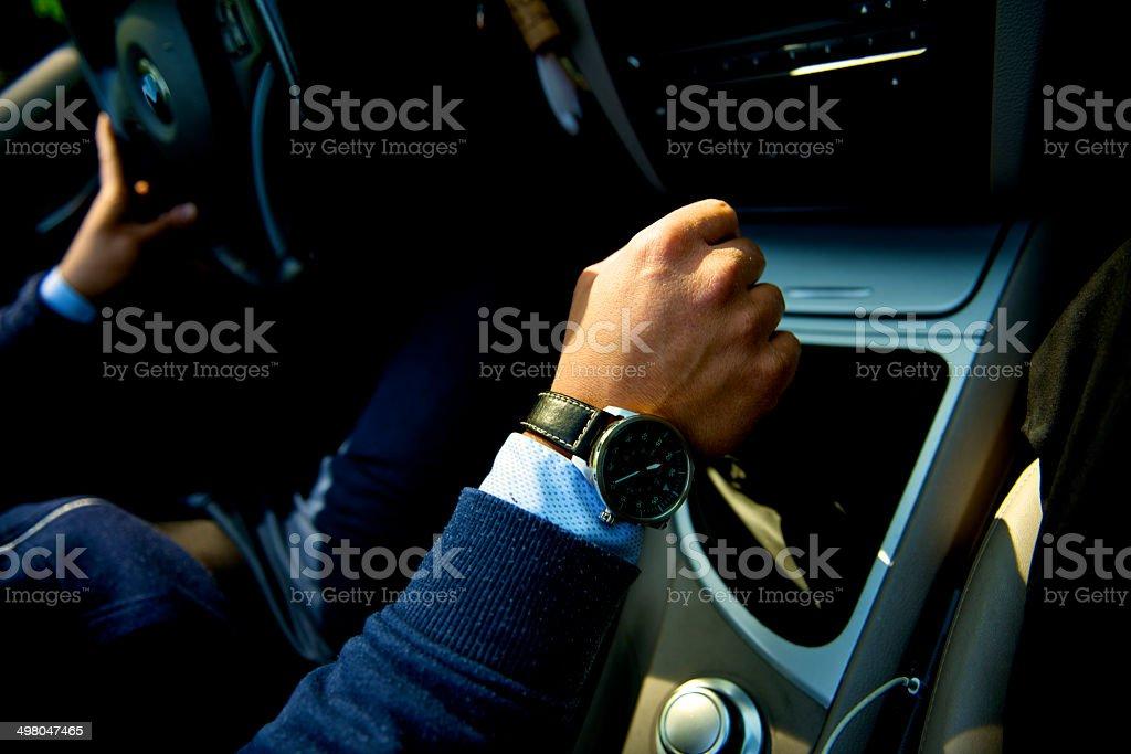 Erfolgreicher junger Mann drive – Foto