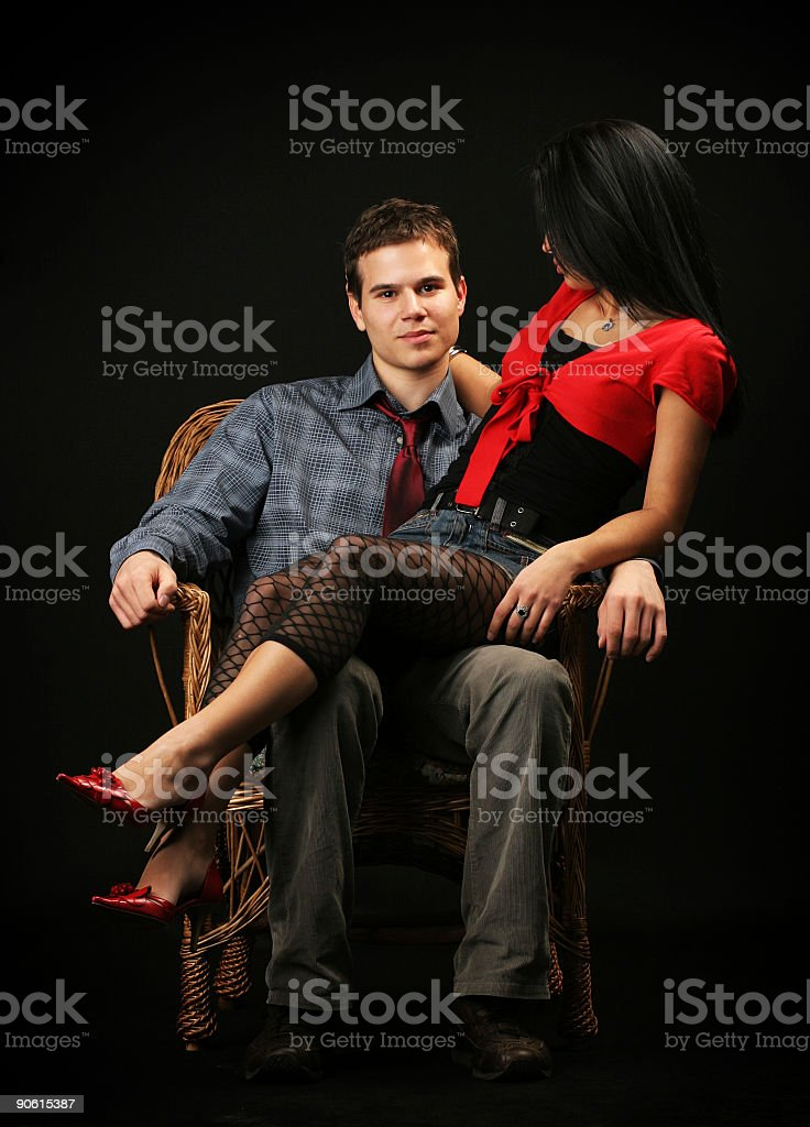 Successfull businessman and his girl royalty-free stock photo