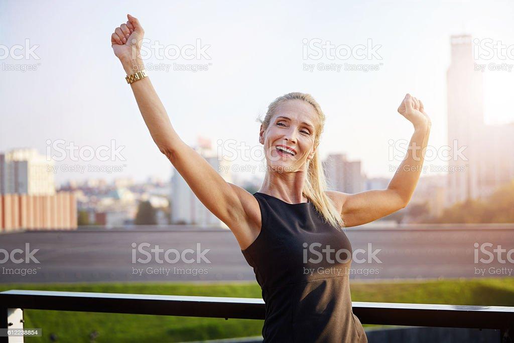 Successfull businesswoman stock photo