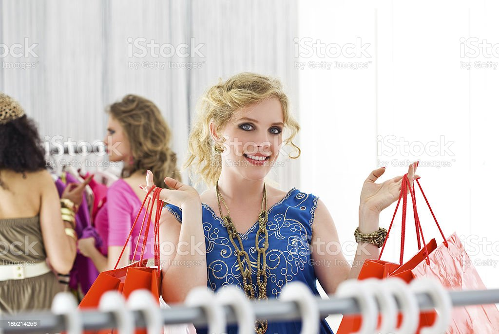 Successfull shopping royalty-free stock photo