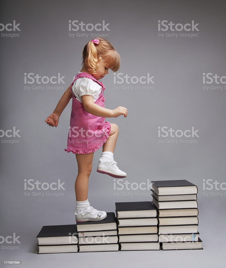 Successfully going from one education level to another royalty-free stock photo