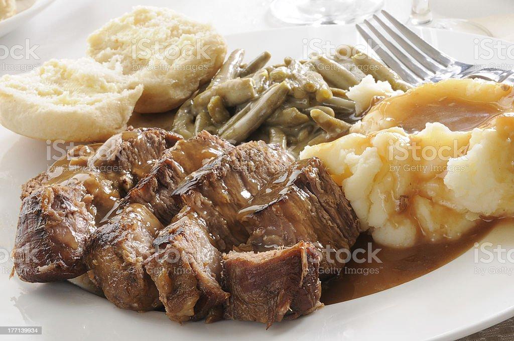 Succulent pot roast stock photo