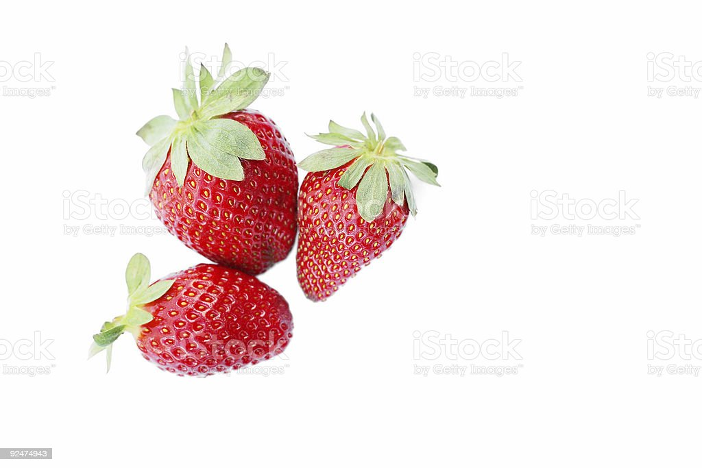 Succulent Strawberries royalty-free stock photo