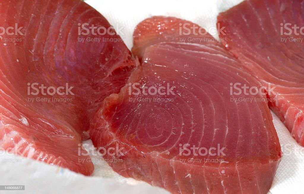 succulent tuna steaks royalty-free stock photo