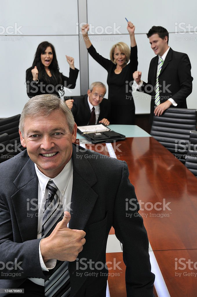 Sucessful Bussiness Team royalty-free stock photo