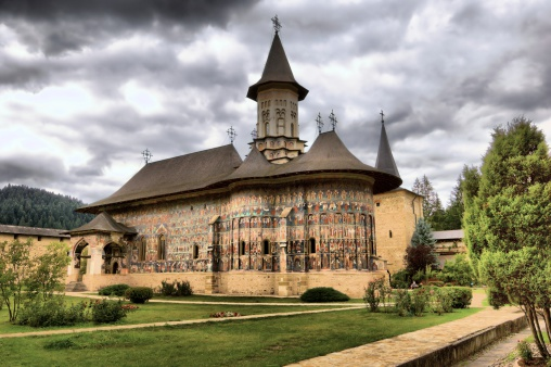 Tone mapped HDR image of Sucevița Monastery, situated in the Northeastern part of Romania.