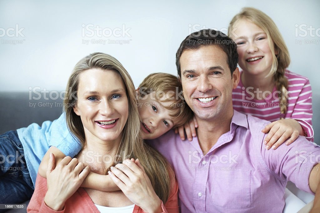 Such proud parents! royalty-free stock photo