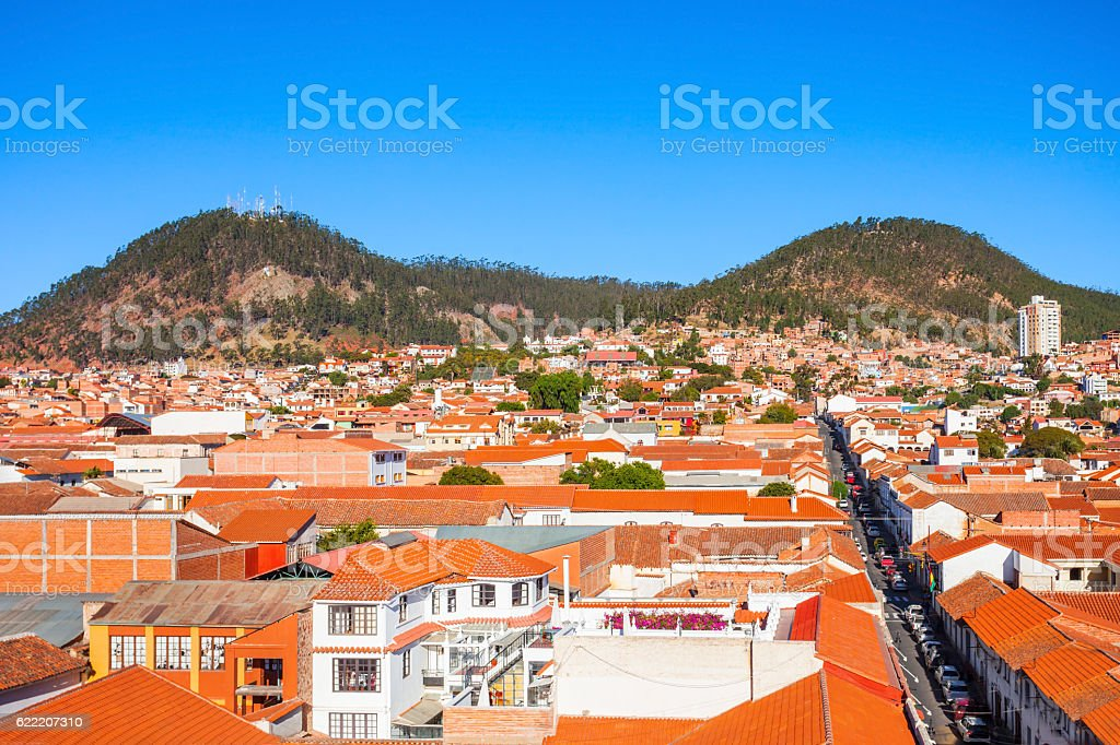 Sucre aerial view stock photo
