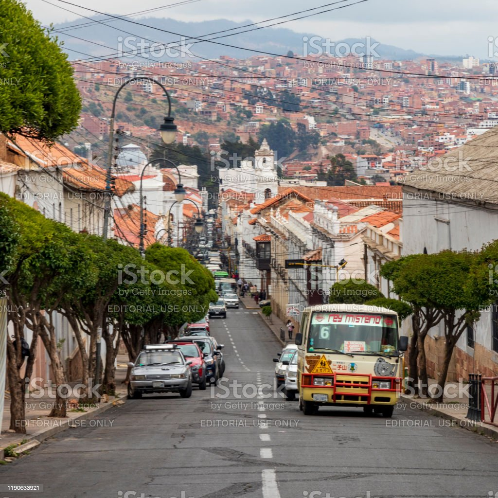 Sucre Bolivia 10192019 Street At Sucre Capital Of Bolivia Stock Photo Download Image Now Istock