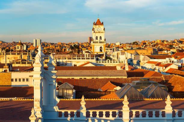 Sucre City Sunset, Bolivia stock photo