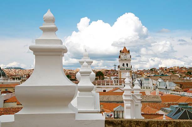 von oben gefilmte sucre - guatemala stadt stock-fotos und bilder