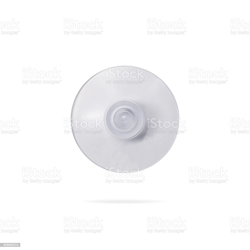 Suction cup isolated on white background. ( Clipping path or cut out object for montage ) stock photo