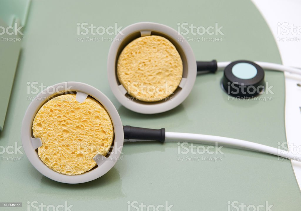 Suction cups for physiotherapy royalty-free stock photo
