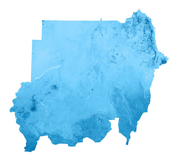 sudan 2011 topographic map isolated - sudan stock photos and pictures