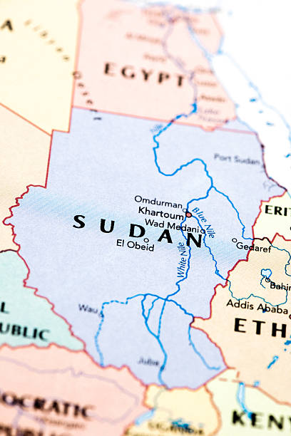 Sudan Africa Map of Sudan Africa omdurman stock pictures, royalty-free photos & images