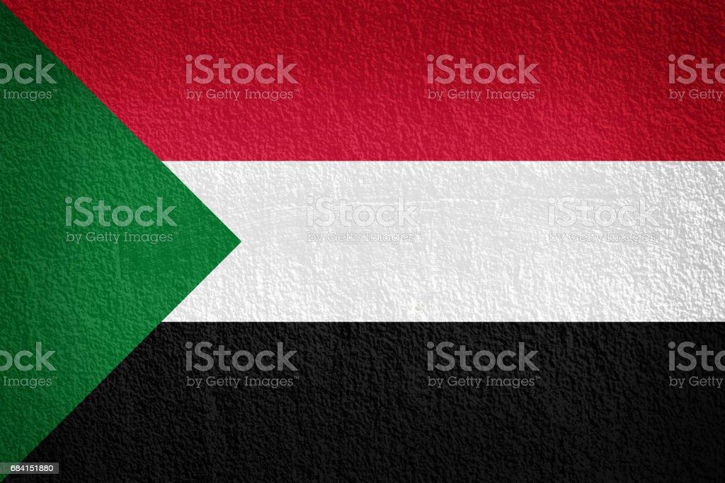 sudan Flag on the wall texture zbiór zdjęć royalty-free