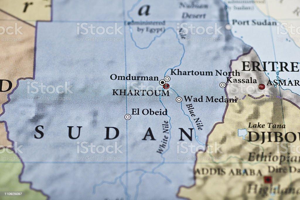 Sudan map stock photo