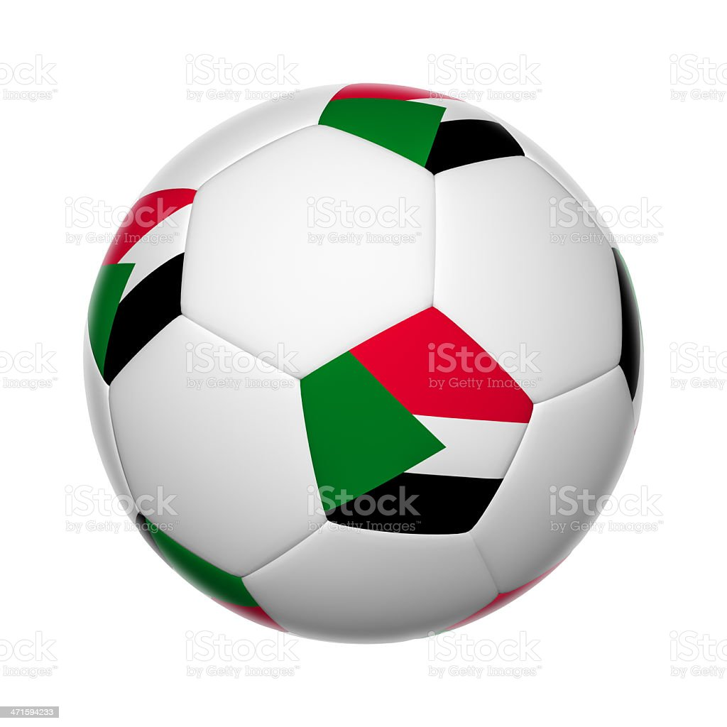 Sudan soccer ball stock photo