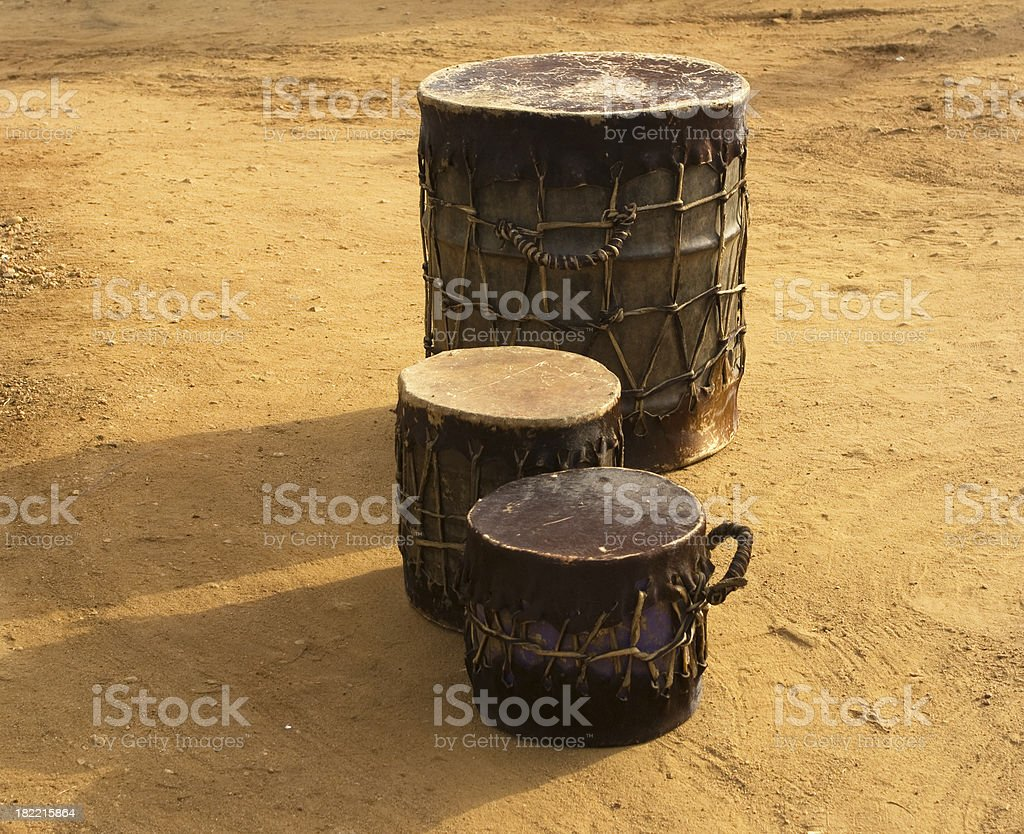 Sudanese church drums  outside royalty-free stock photo