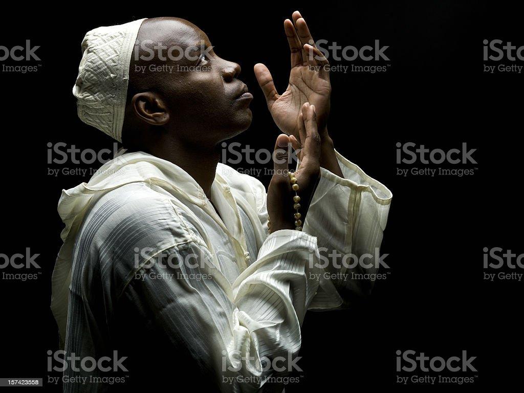 Sudanese Muslim Man Praying stock photo