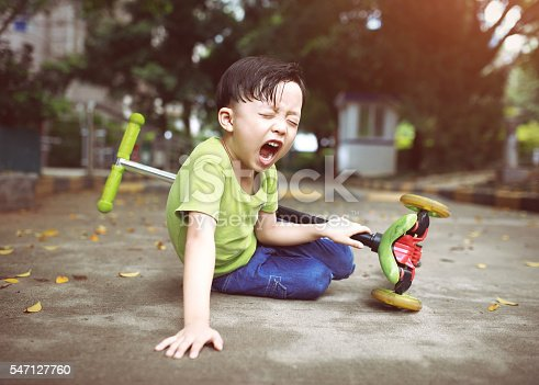 sudden braking tumbled him down