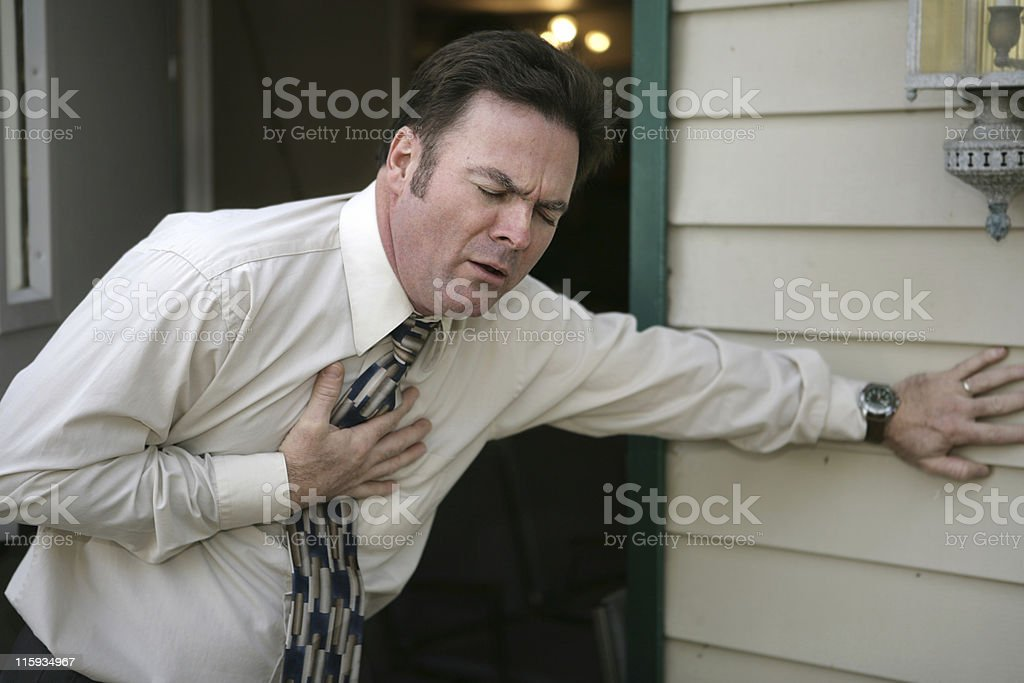Sudden Chest Pain royalty-free stock photo