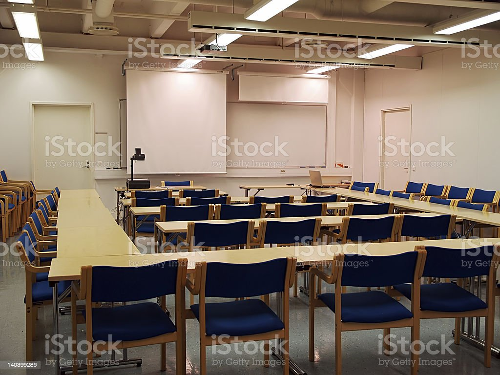 Sudents auditorium ready for lecture stock photo