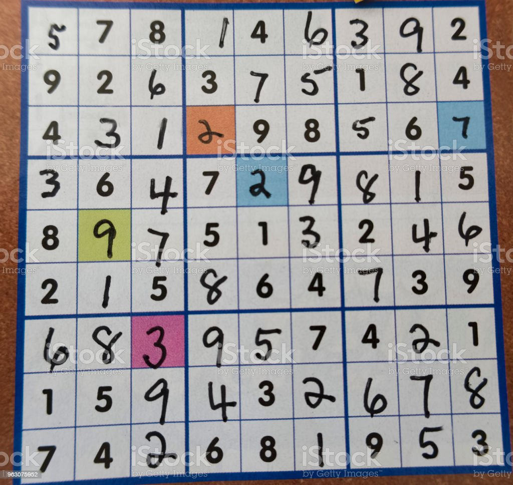 Sudoku game stock photo