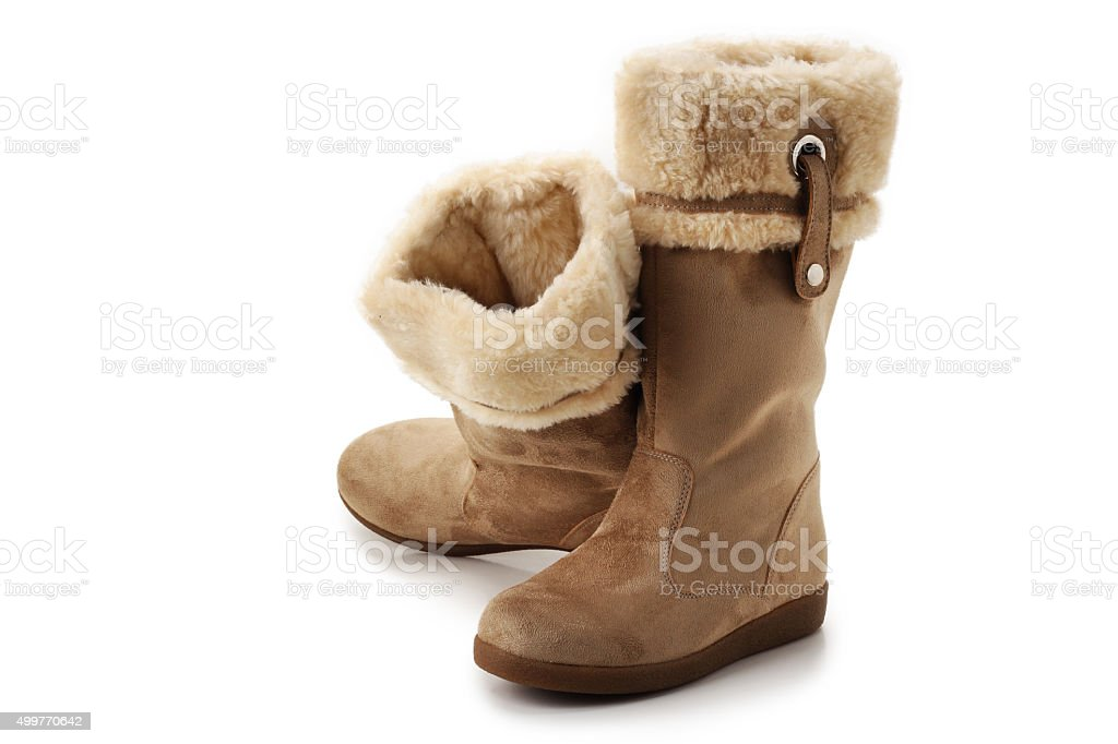 Suede Boots stock photo