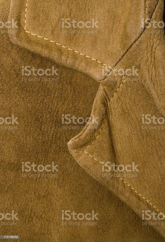 Suede collar stock photo